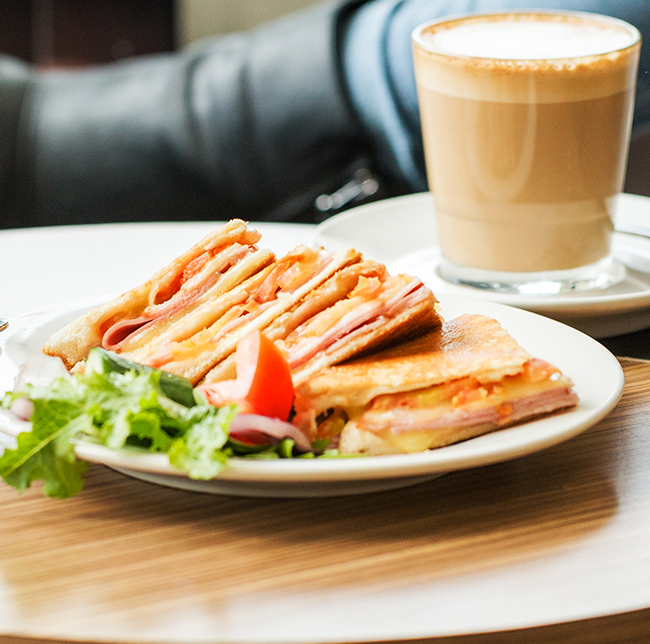 Light lunch and coffee at the Tradies Caringbah Cafe