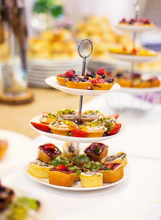 3 tier dessert stand at Tradies Events Centre