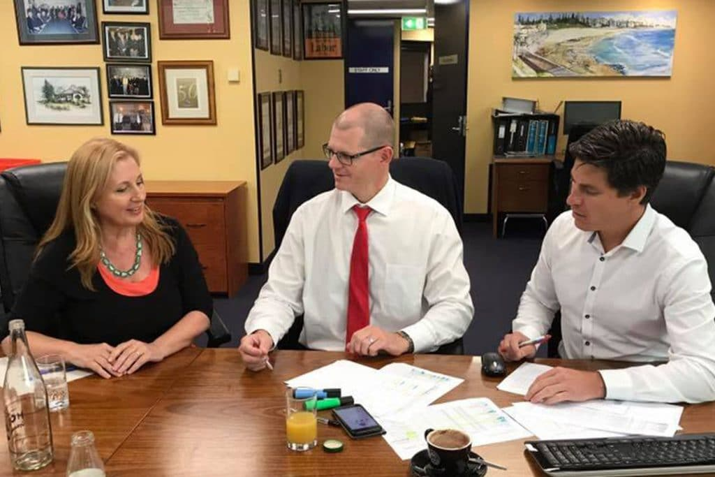 The judging panel for the Tradies iPromise Grants