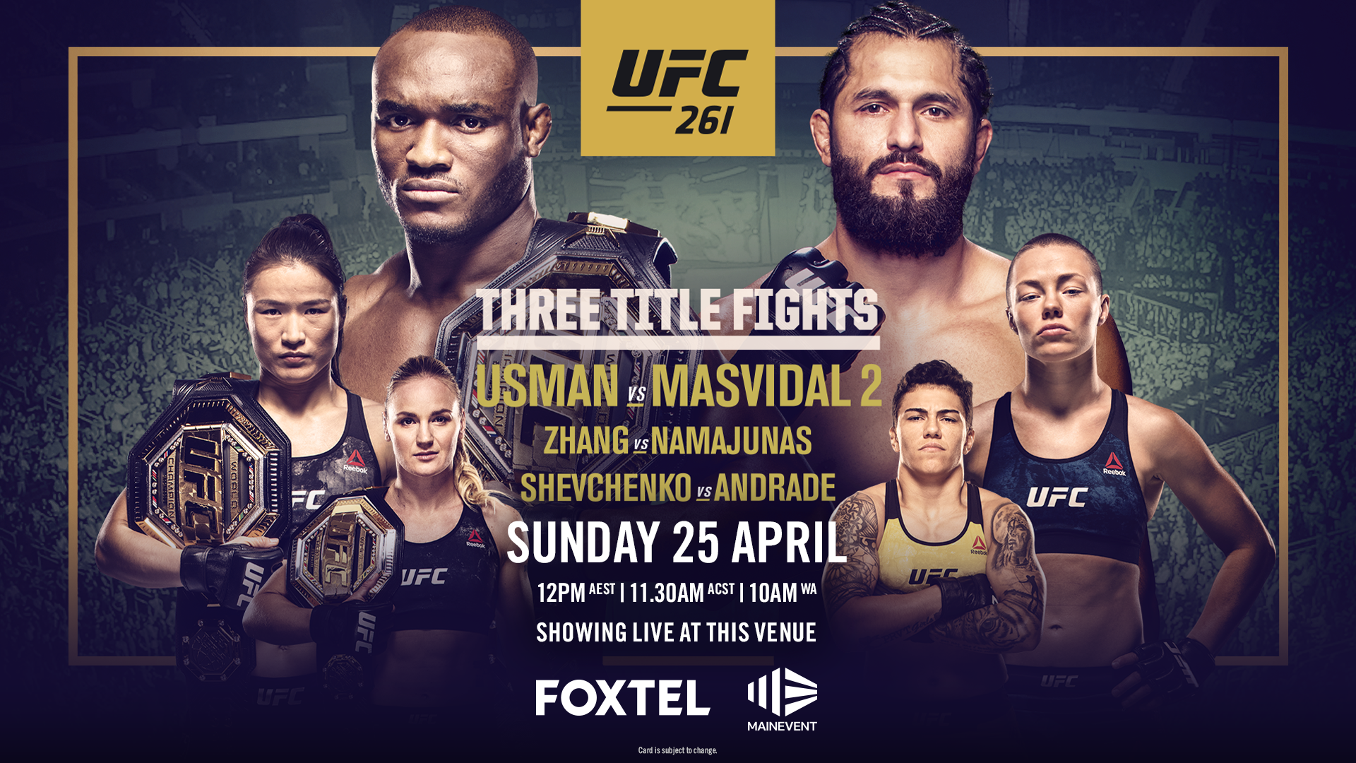 UFC261 at Tradies Helensburgh