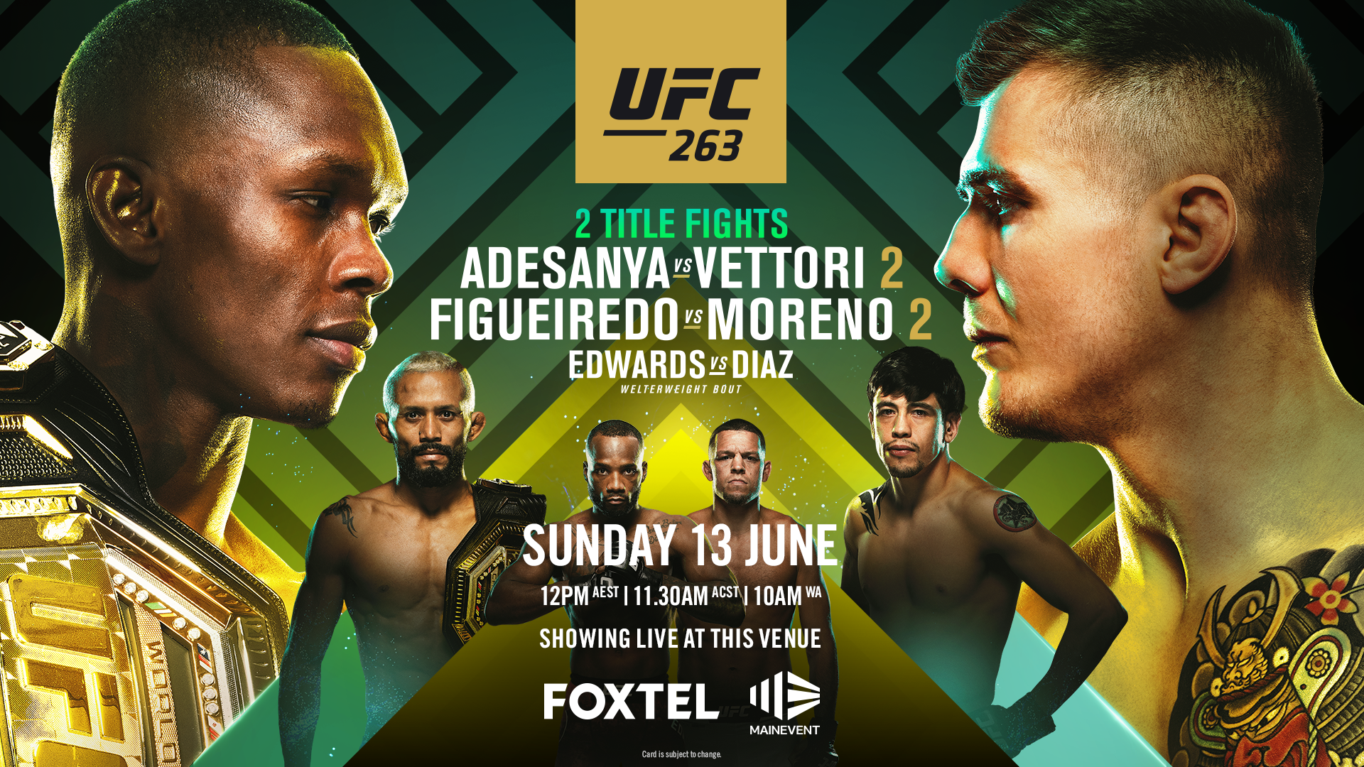 UFC263 live at Tradies Helensburgh