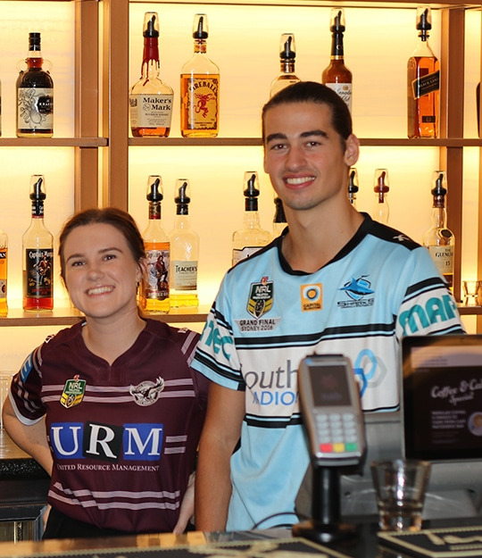 The Members Lounge at Tradies Gymea is the home of live sport in the Sutherland Shire